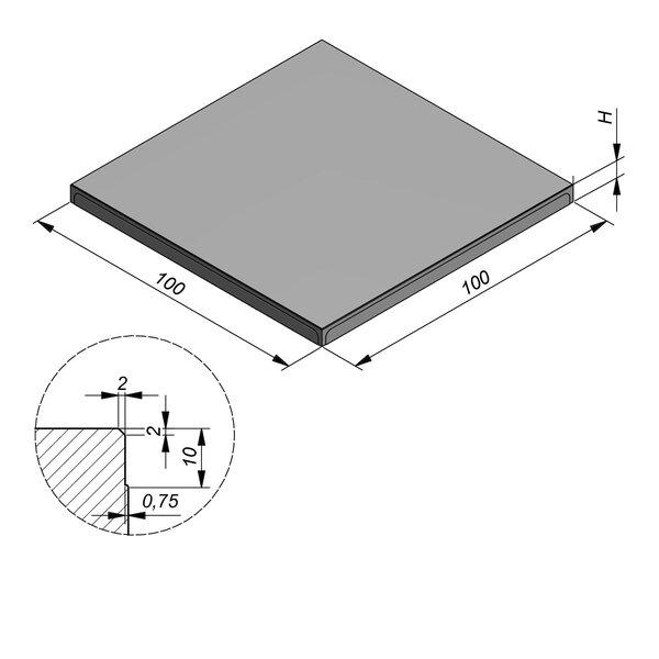 Product image for Megategel 100x100 cm 2/2 mm