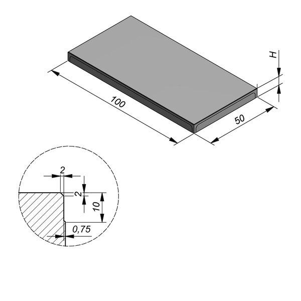 Product image for Megategel 100x50 cm 2/2 mm