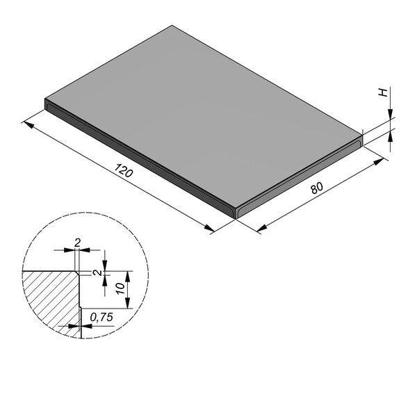 Product image for Megategel 120x80 cm 2/2 mm