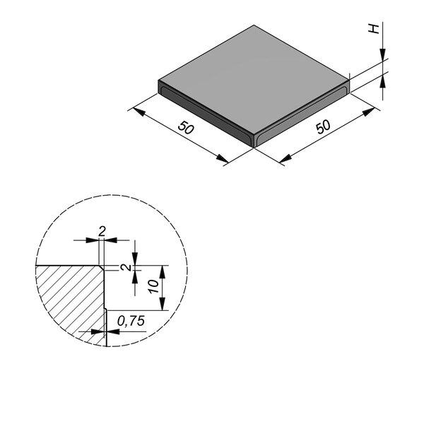 Product image for Megategel 50x50 cm 2/2 mm