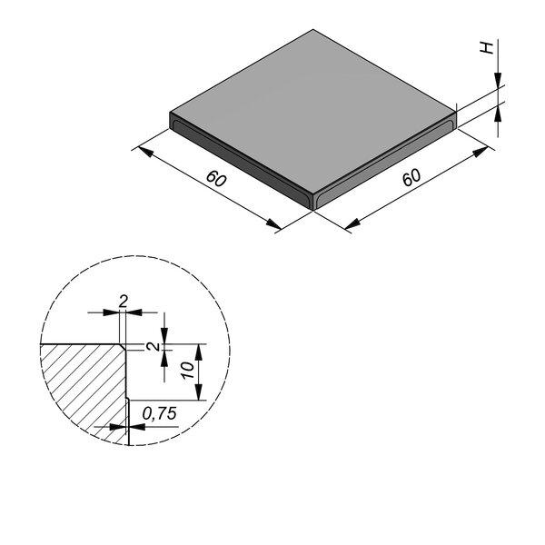 Product image for Megategel 60x60 cm 2/2 mm