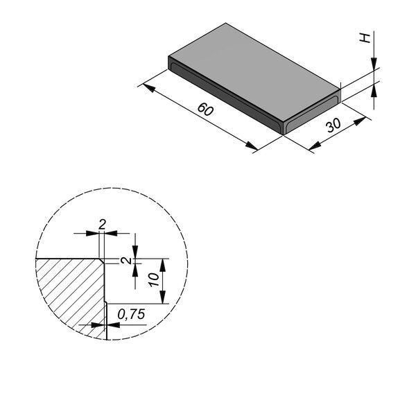 Product image for Megategel 60x30 cm 2/2 mm