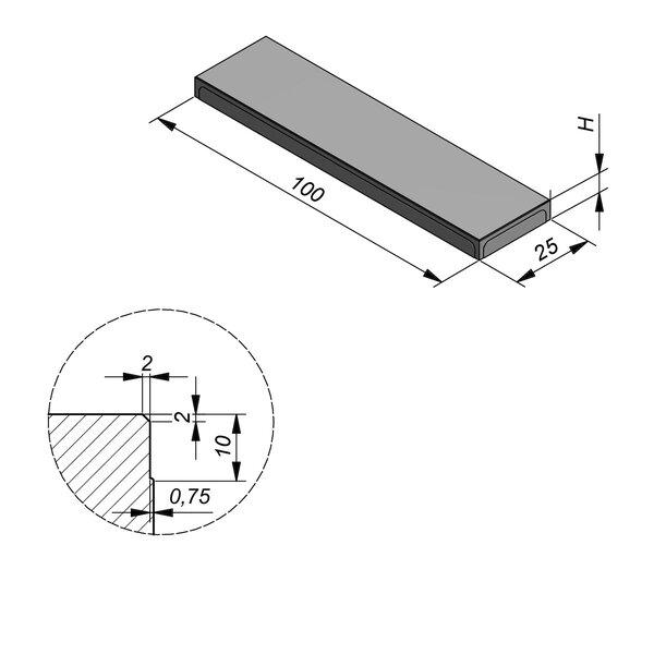 Product image for Megategel 100x25 cm 2/2 mm