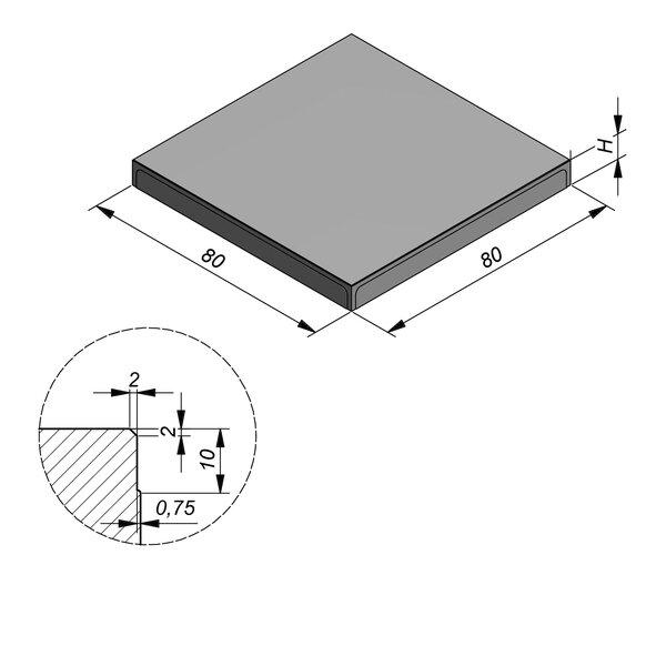 Product image for Megategel 80x80 cm 2/2 mm
