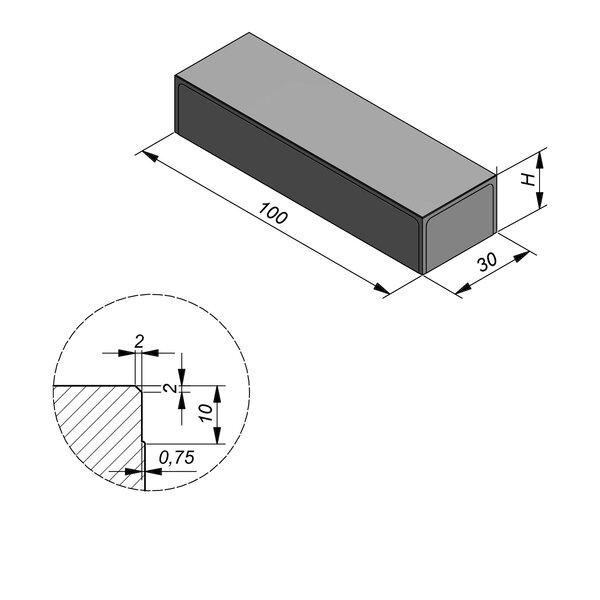 Product image for Megategel 100x30 cm 2/2 mm