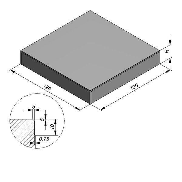 Product image for Megategel 120x120 cm 5/5 mm