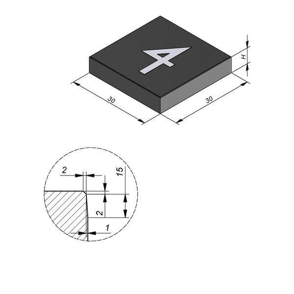 Product image for Symbooltegel 30x30 cm 2/2 mm  met Symbool