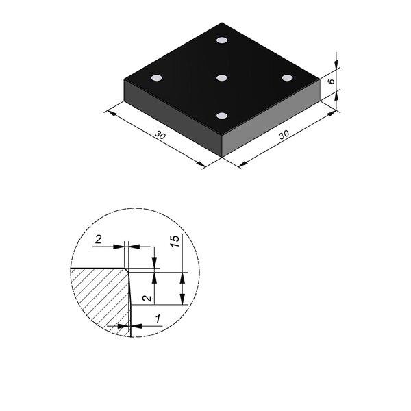 Product image for Symbooltegel 30x30 cm 2/2 mm  met Symbool Domino