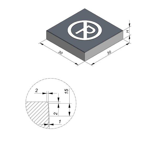 Product image for Symbooltegel 30x30 cm 2/2 mm  met Symbool Parkeerverbod
