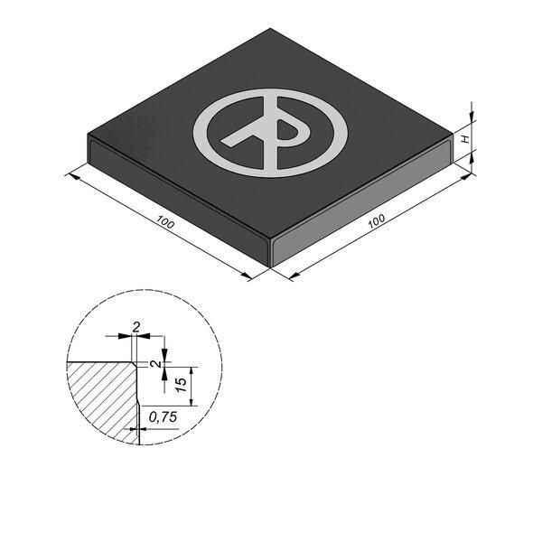 Product image for Symbooltegel 100x100 cm 2/2 mm  met Symbool Parkeerverbod