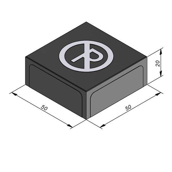 Product image for Symbooltegel 50x50 cm 2/2 mm  met Symbool Parkeerverbod