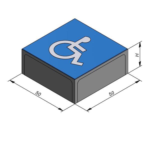 Product image for Symbooltegel 50x50 cm 2/2 mm  met Symbool Rolstoel