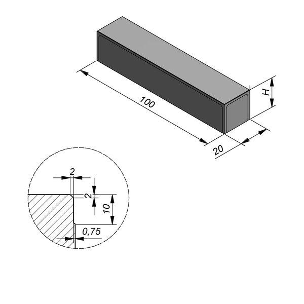 Product image for Megategel 100x20 cm 2/2 mm