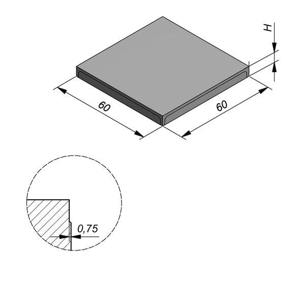 Product image for Megategel 60x60 cm Vlak