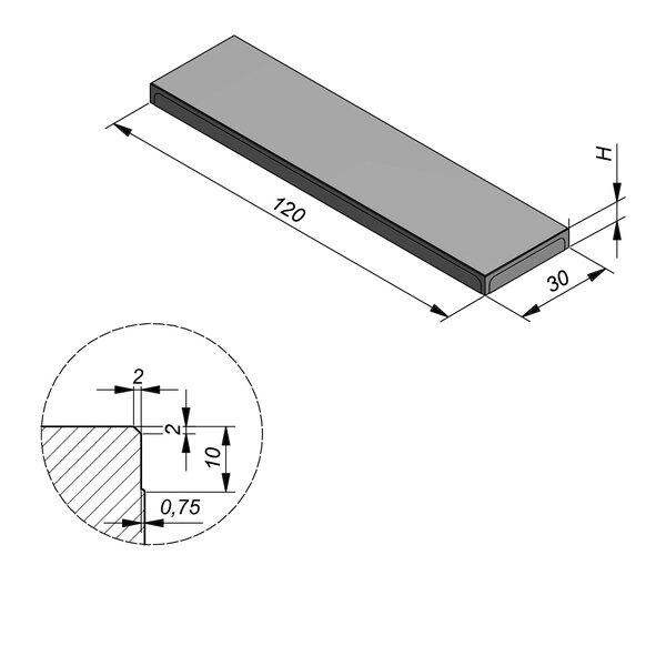 Product image for Megategel 120x30 cm 2/2 mm