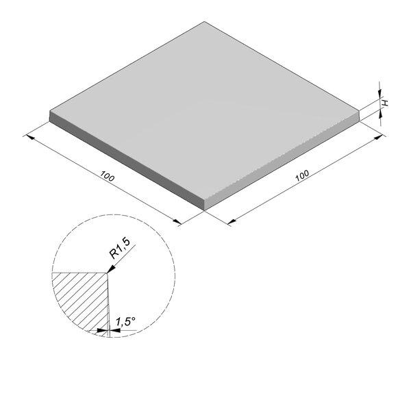 Product image for Megategel Smooth | Fluweelzacht 100x100 cm R1,5 mm