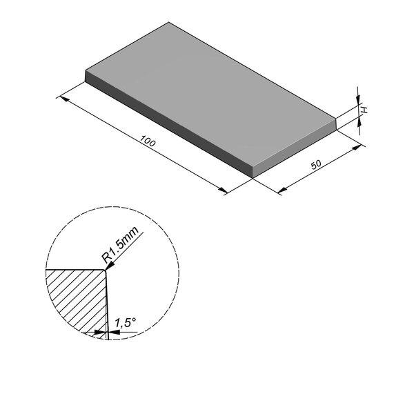 Product image for Megategel Smooth | Fluweelzacht 100x50 cm R1,5 mm