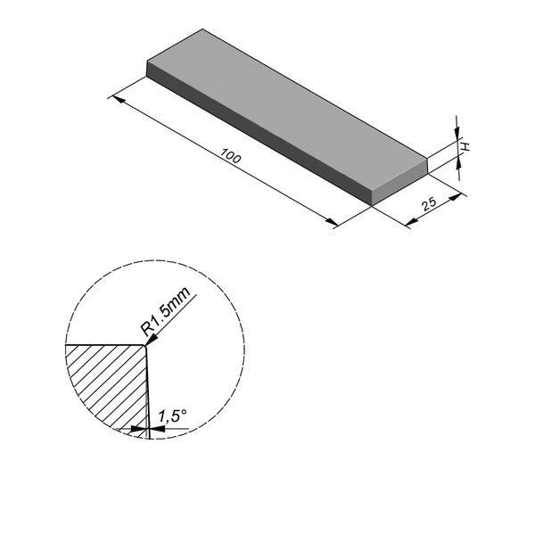 Product image for Megategel Smooth | Fluweelzacht 100x25 cm R1,5 mm