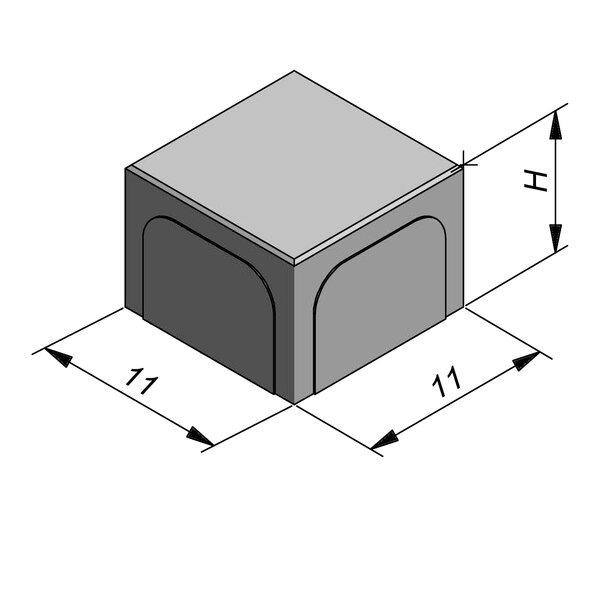 Product image for Betonstraatstenen Belgisch formaat 11x11 cm 2/2 mm