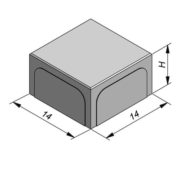 Product image for Betonstraatstenen Belgisch formaat 14x14 cm 2/2 mm