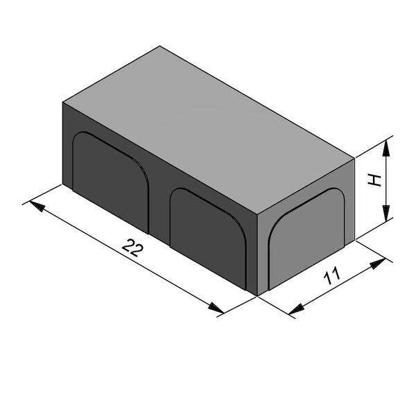 Product image for Betonstraatstenen Fietspadsteen 22x11 cm Vlak