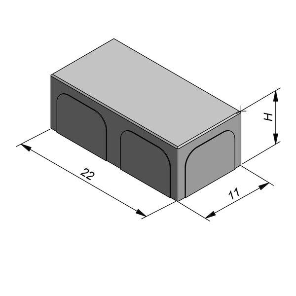Product image for Betonstraatstenen Belgisch formaat 22x11 cm 2/2 mm
