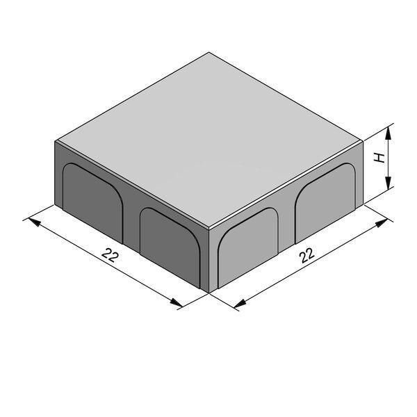 Product image for Betonstraatstenen Belgisch formaat 22x22 cm 2/2 mm