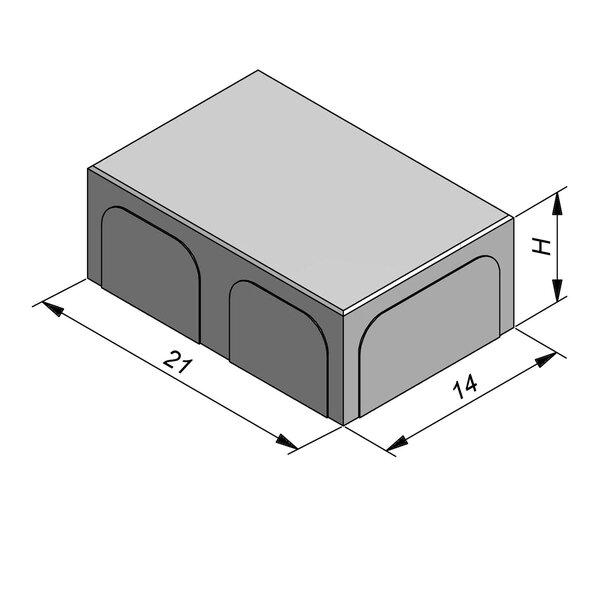 Product image for Betonstraatstenen Belgisch formaat 21x14 cm 2/2 mm