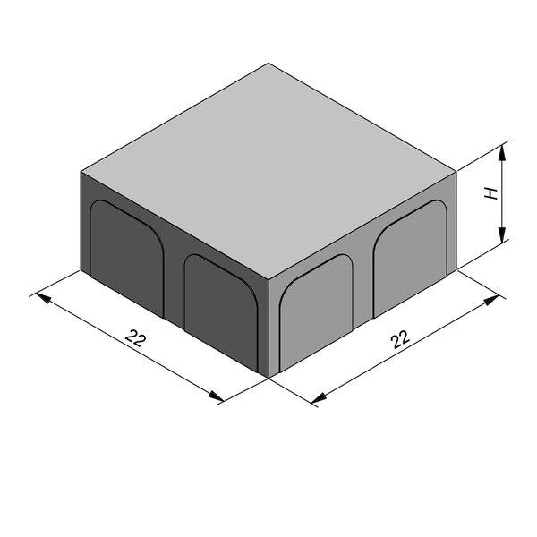 Product image for Betonstraatstenen Fietspadsteen 22x22 cm Vlak