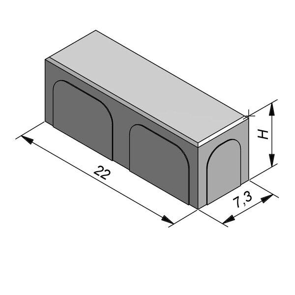 Product image for Betonstraatstenen Belgisch formaat Dikformaat 22x7,3 cm 2/2 mm