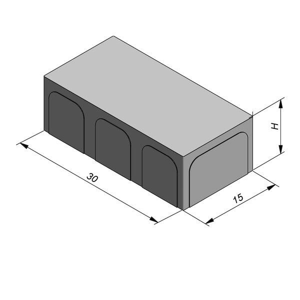 Product image for Betonstraatstenen Fietspadsteen 30x15 cm Vlak