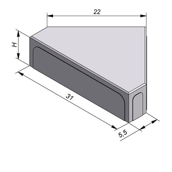 Product image for Betonstraatstenen Belgisch formaat Muts 31x22/5,5 cm 3/3 mm
