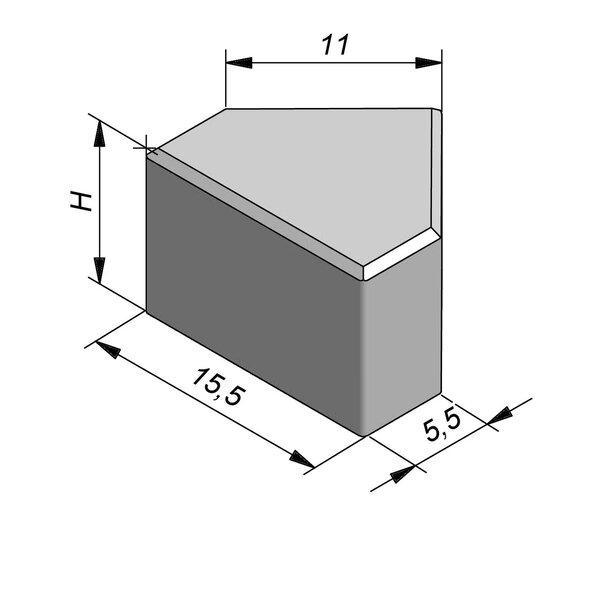 Product image for Betonstraatstenen Belgisch formaat Muts 15,5x11/5,5 cm 5/5 mm