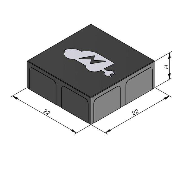 Product image for Betonstraatstenen Belgisch formaat 22x22 cm 2/2 mm met symbool auto-oplaadpunt