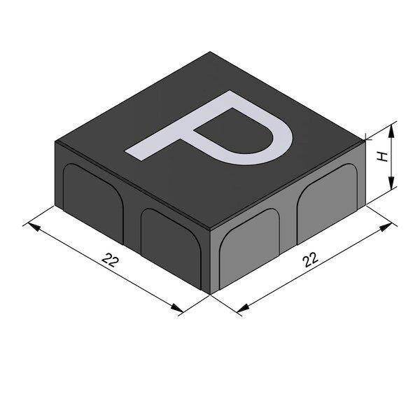 Product image for Betonstraatstenen Belgisch formaat 22x22 cm 2/2 mm met Symbool Parking