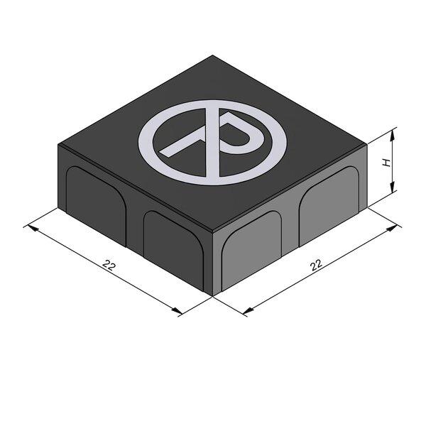 Product image for Betonstraatstenen Belgisch formaat 22x22 cm 2/2 mm met Symbool Parkeerverbod