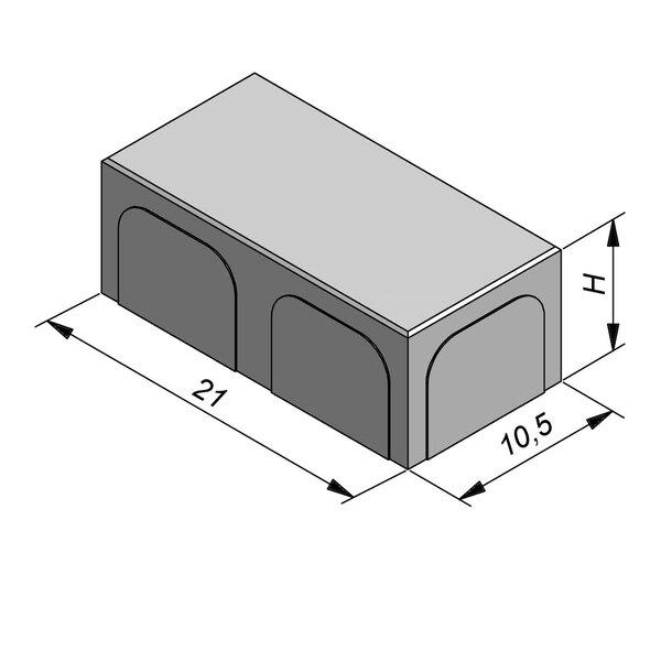 Product image for Betonstraatstenen Nederlands formaat 21x10,5 cm 4/4 mm