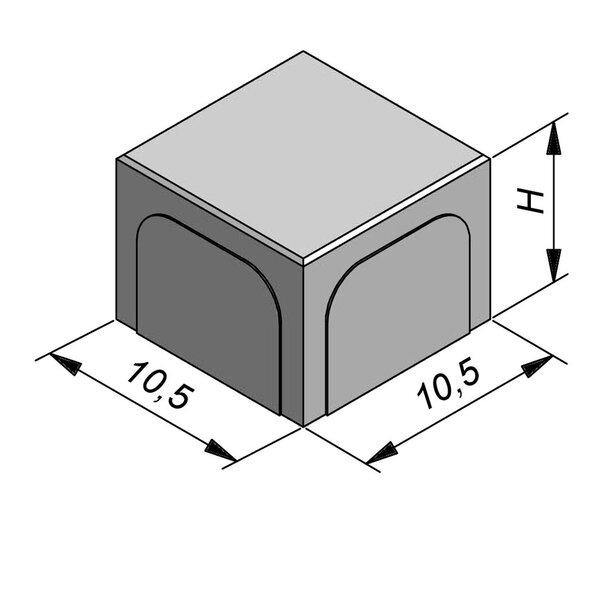 Product image for Betonstraatstenen Nederlands formaat 10,5x10,5 cm 4/4 mm