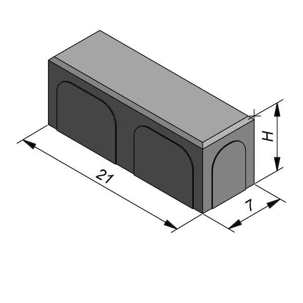Product image for Betonstraatstenen Nederlands formaat 21x7 cm 4/4 mm