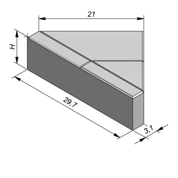Product image for Betonstraatstenen Nederlands formaat 29,7x21/3,1 cm 3/3 mm met Schijnvoeg (renuur)