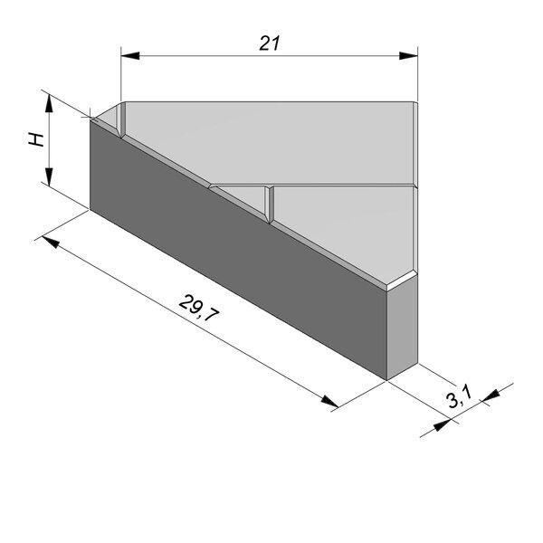 Product image for Betonstraatstenen Nederlands formaat 29,7x21/3,1 cm 3/3 mm met Schijnvoeg doorlopend