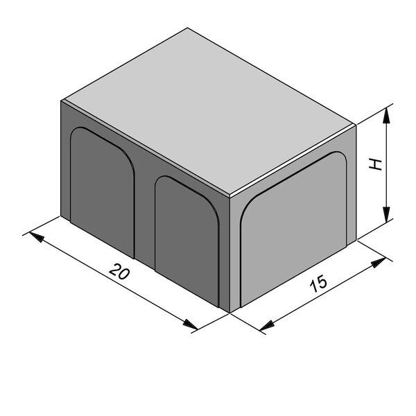 Product image for Betonstraatstenen Geluidsreducerend (Titan) 20x15 cm 2/2 mm
