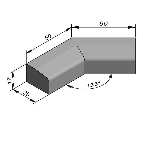 Product image for Boordsteen Hoek 17x25 cm 2,5/15 cm IF2 135° inwendig