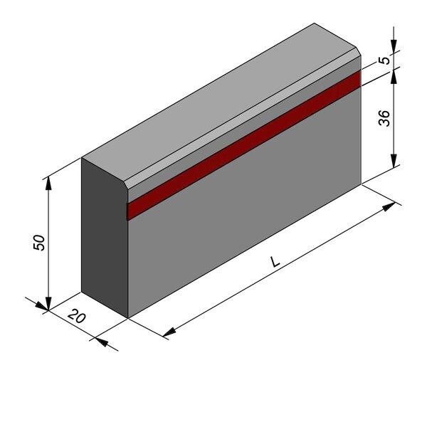 Product image for Bordure réflechissante/led 50x20 2/2 cm avec bande réfléchissante rouge 4,5cm