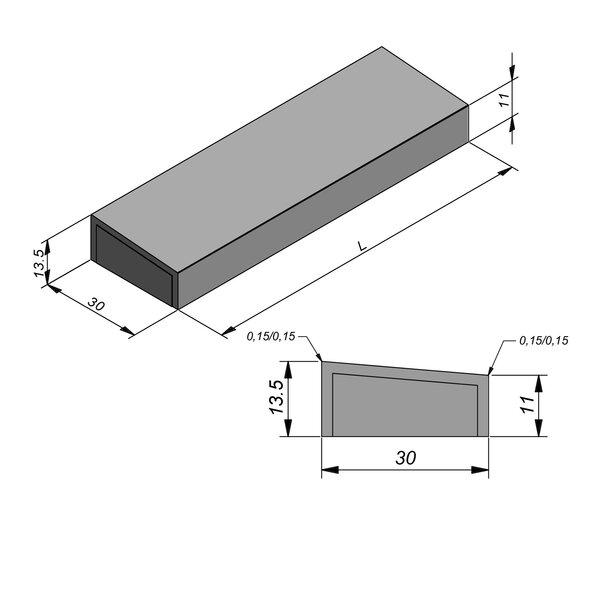 Product image for Kantstrook 13,5x30 cm 2,5/30 cm