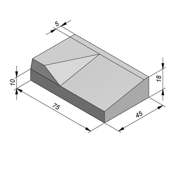 Product image for Inritbanden 18x45 cm 8/40 cm type Antwerpen links
