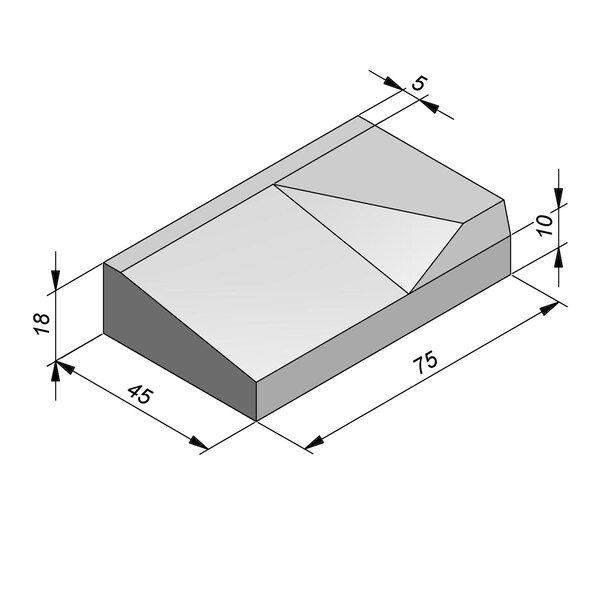 Product image for Inritbanden 18x45 cm 8/40 cm type Antwerpen rechts