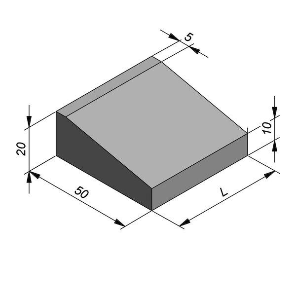 Product image for Inritbanden 20x50 cm 10/45 cm type IA-IB-IC2 midden