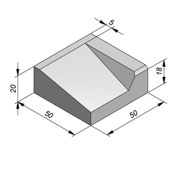 Product image for Inritbanden 20x50 cm 10/45 cm type IA-IB-IC2 rechts