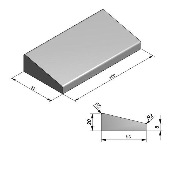 Product image for Inritbanden 20x50 cm 12/50 cm type Deurne midden